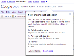google docs easy share - Ongoing Issue Graphic