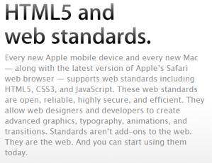 HTML5 Apple Ongoing Issue Picture