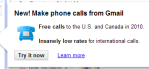 Call from Gmail screen capture - Ongoing Issues