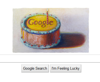 Google's 12th Birthday Cake
