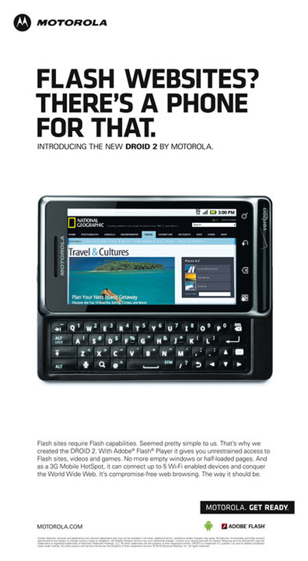motodroid 2 Ad - Ongoing Issues Image