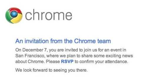 Google Invite Chrome December 7th - Ongoing Issues Pic