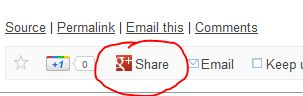 g+ share button - ongoing issues pic
