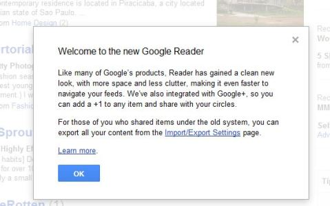 new google reader alert - Ongoing Issues Pic