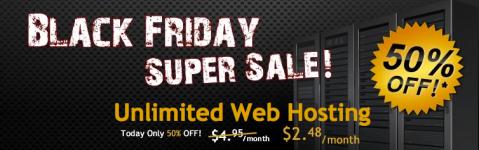 HostGator Black Friday Super Sale 50% off